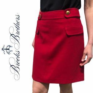 Brooks Brothers- Red Fleece Skirt